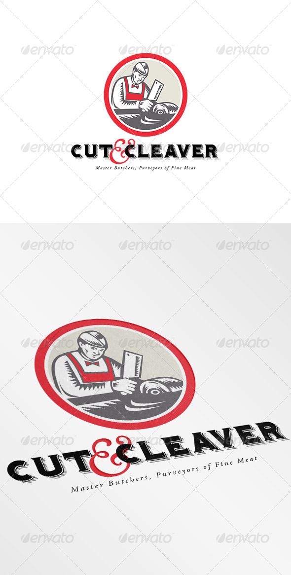 Cut and Cleaver Master Butcher Logo - Humans Logo Templates