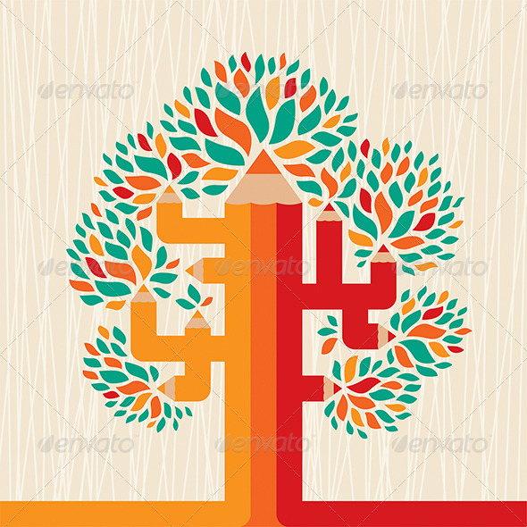 Abstract Pencil Tree - Abstract Conceptual