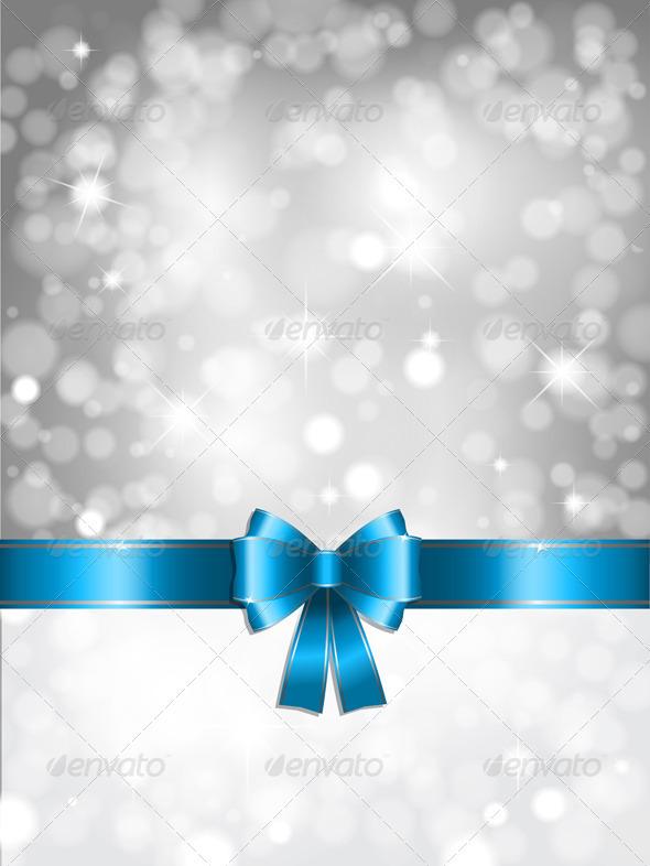 Silver Christmas lights Background - Christmas Seasons/Holidays