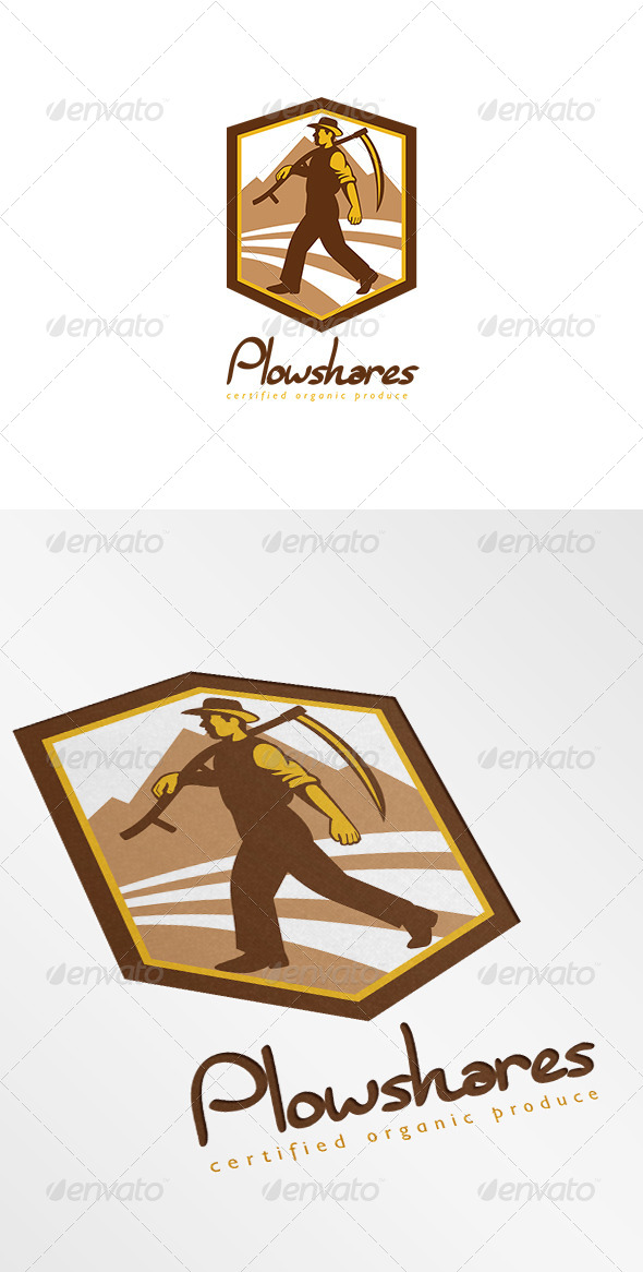 Plowshares Certified Organic Produce Logo - Humans Logo Templates