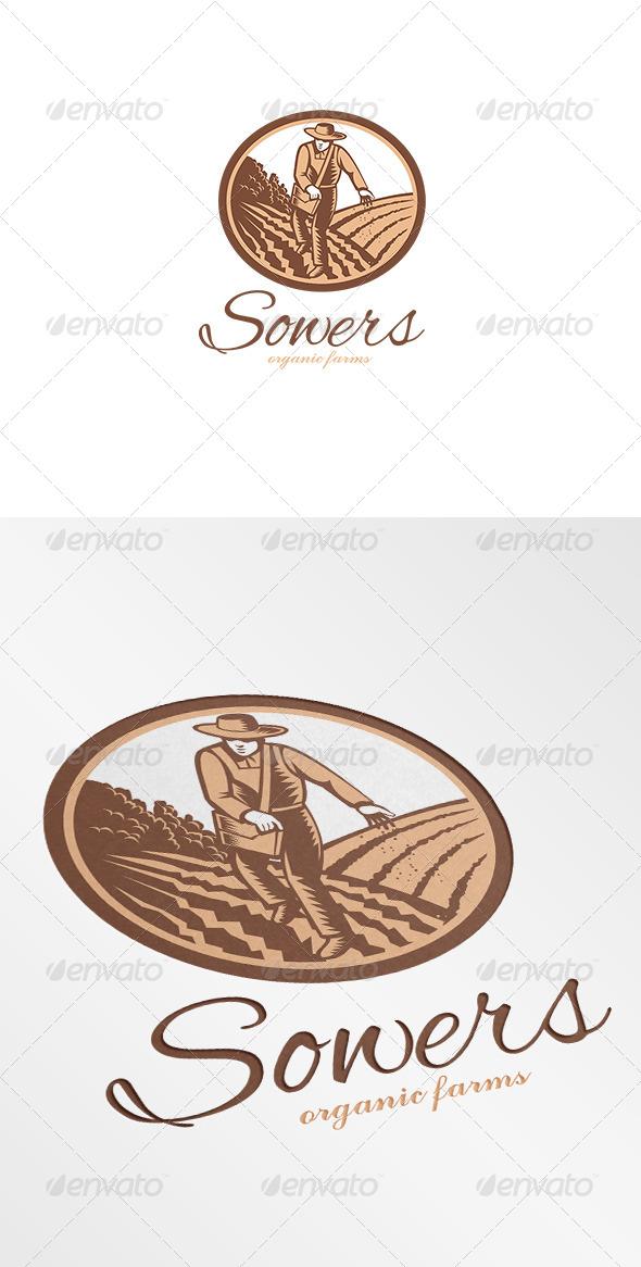 Sowers Organic Farms Logo - Humans Logo Templates