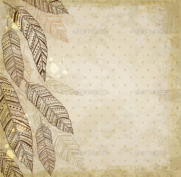 Decorative Background with Feathers - Abstract Conceptual