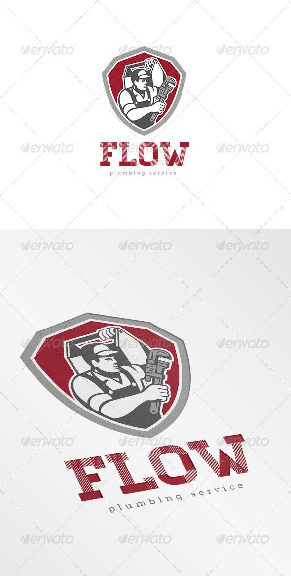 Flow Plumbing Services Logo - Humans Logo Templates