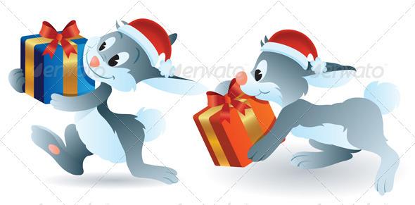 Christmas Bunny - Animals Characters