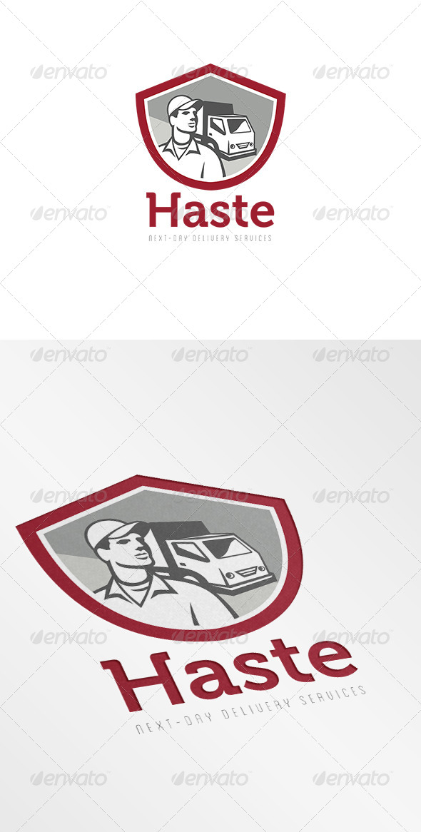 Haste Next Day Delivery Service Logo - Humans Logo Templates