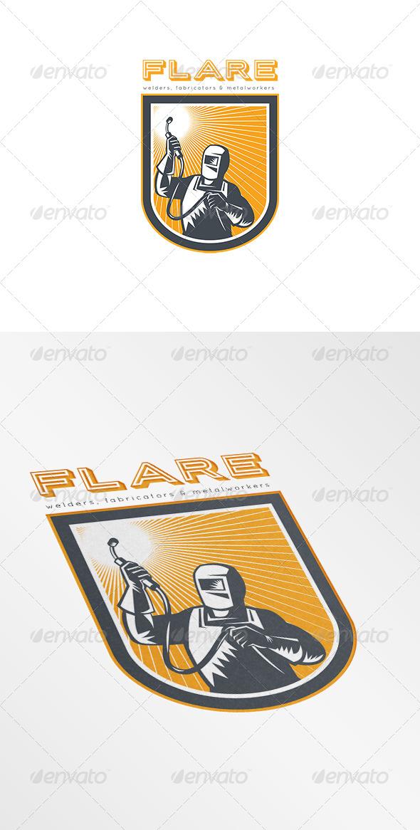 Flare Welders and Fabricators Logo - Humans Logo Templates