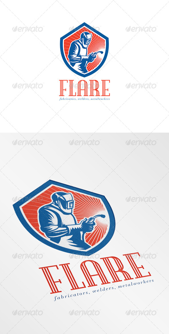 Welder Fabricator Welding Logo  - Humans Logo Templates