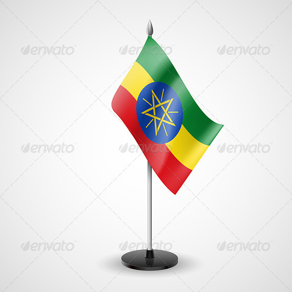 Table Flag of Ethiopia - Miscellaneous Vectors