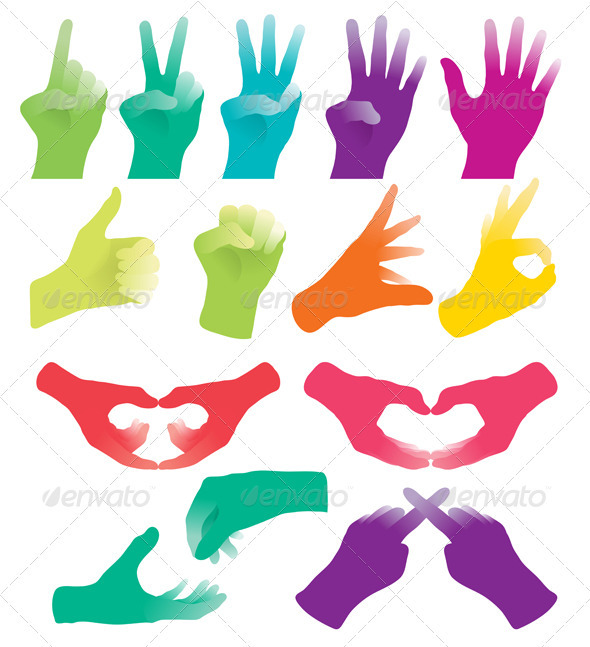 Hand Sign - Conceptual Vectors