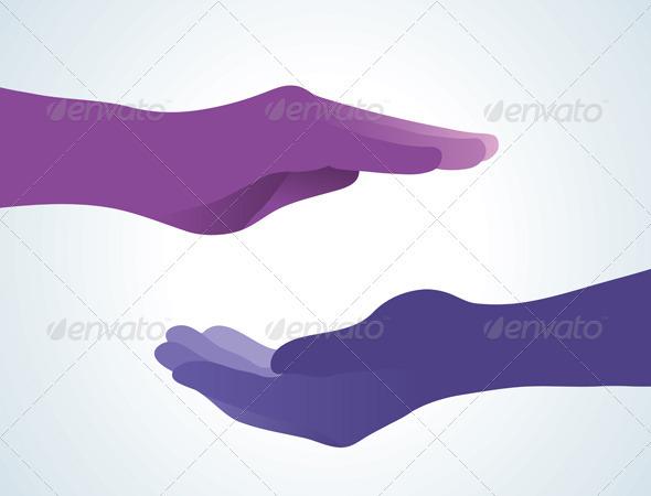 Meditation Hand - Conceptual Vectors