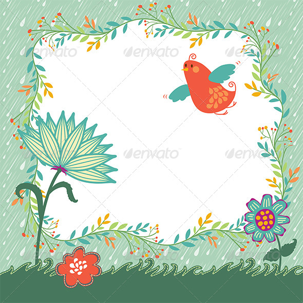 Spring Vector Background - Seasons Nature