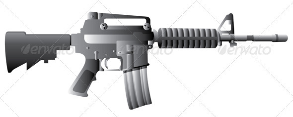 M16 Gun Rifle - Man-made Objects Objects