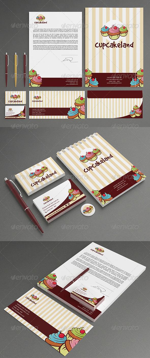 Cupcake Stationery - Stationery Print Templates