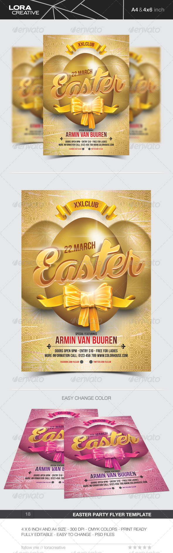 Easter Party Flyer / Poster - 18 - Clubs & Parties Events