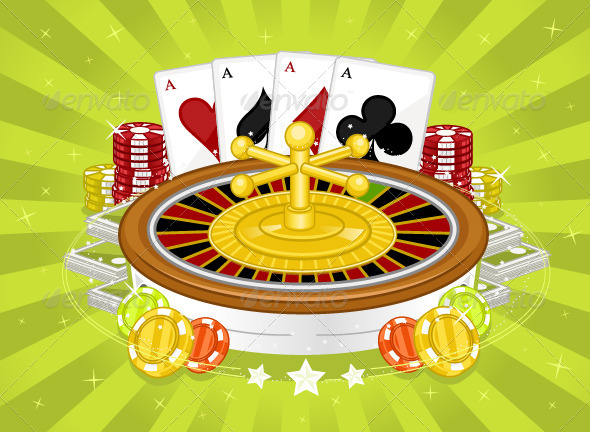 Casino Games - Objects Vectors