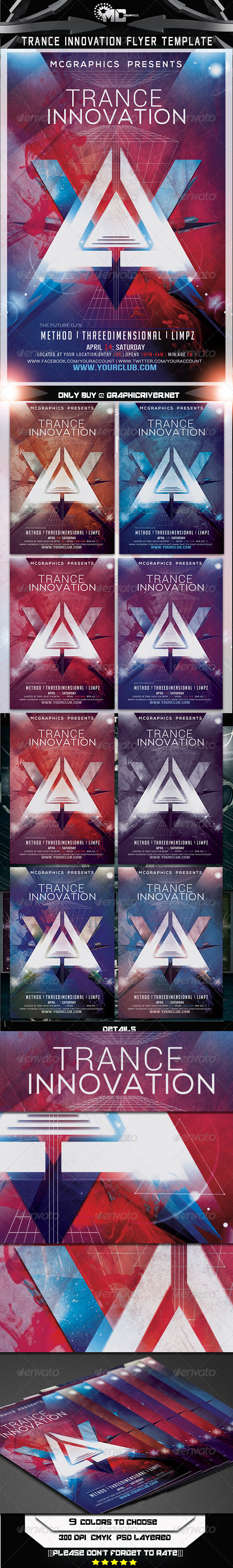 Trance Innovation Flyer Template - Flyers Print Templates