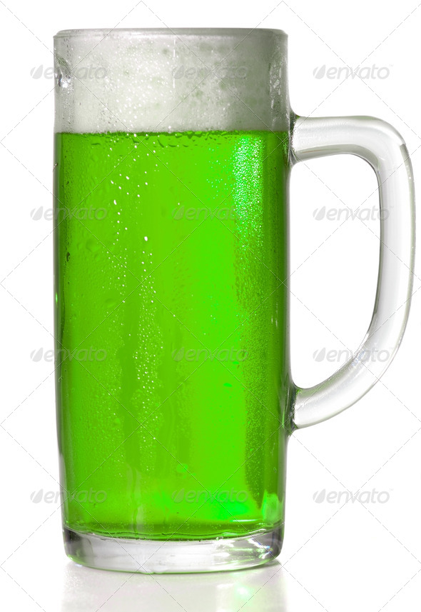 Green Beer mug - Stock Photo - Images