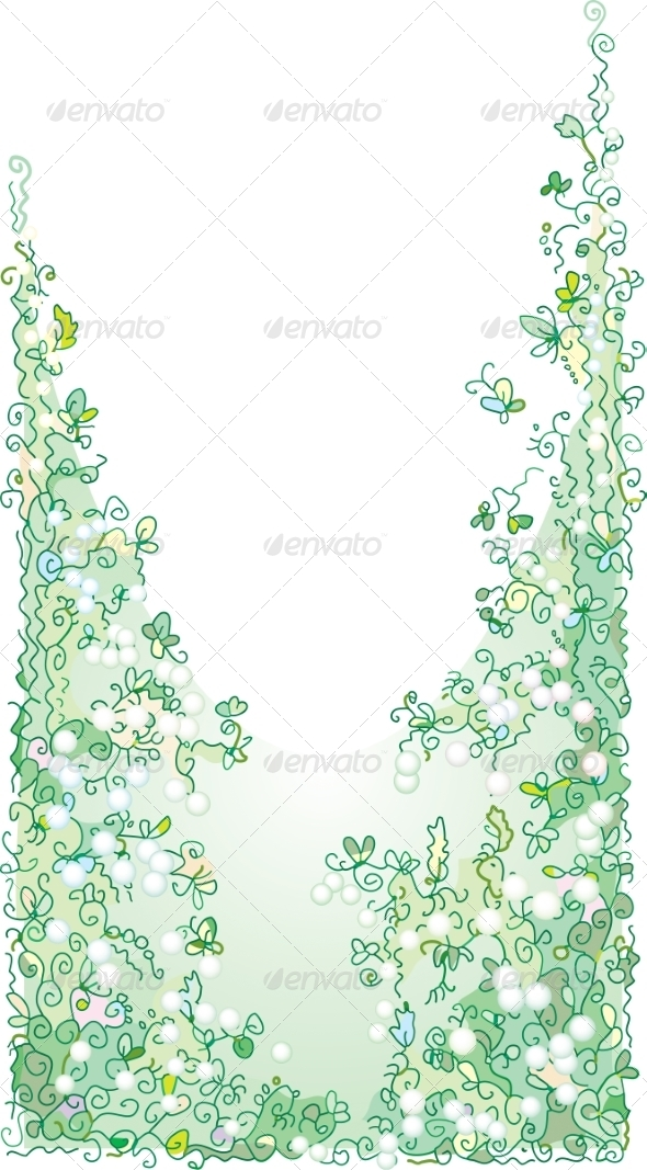 Refined Floral Vignette In Color - Flowers & Plants Nature