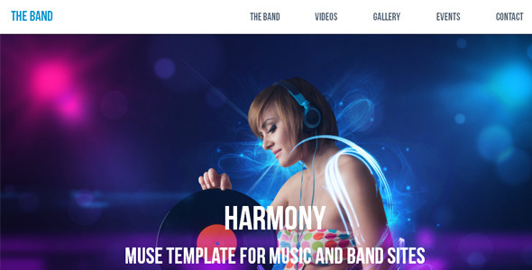 Harmony - Music / Band Muse Template - Corporate Muse Templates