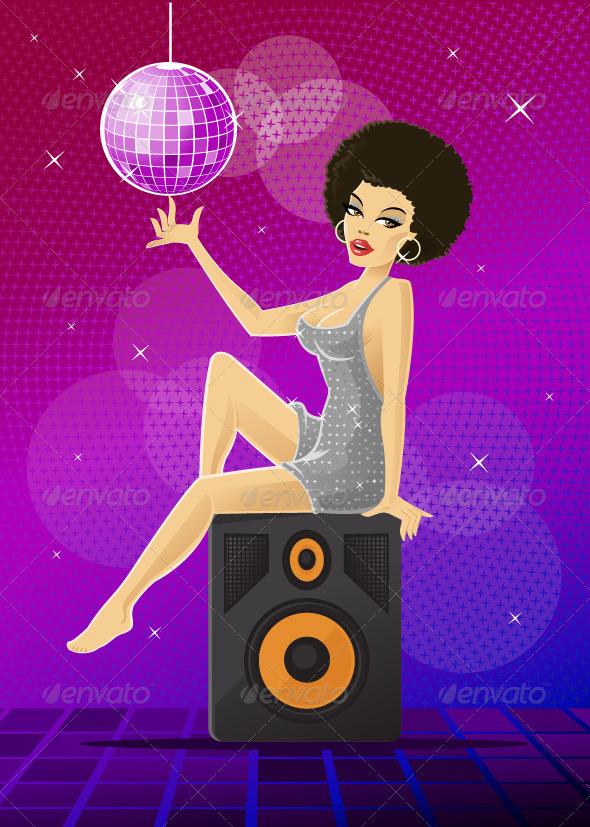 Disco Girl - People Characters