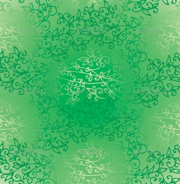 Floral Green Verdure Springtime seamless pattern - Patterns Decorative
