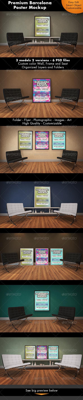 Barcelona Poster Mockup - Posters Print