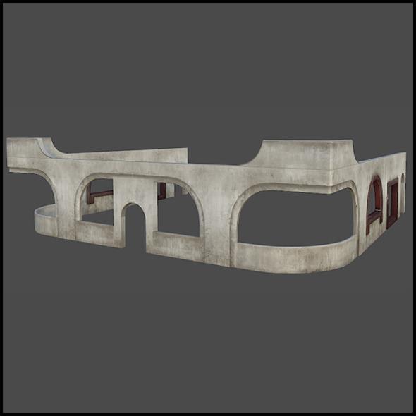 Concrete Building Set - 3DOcean Item for Sale