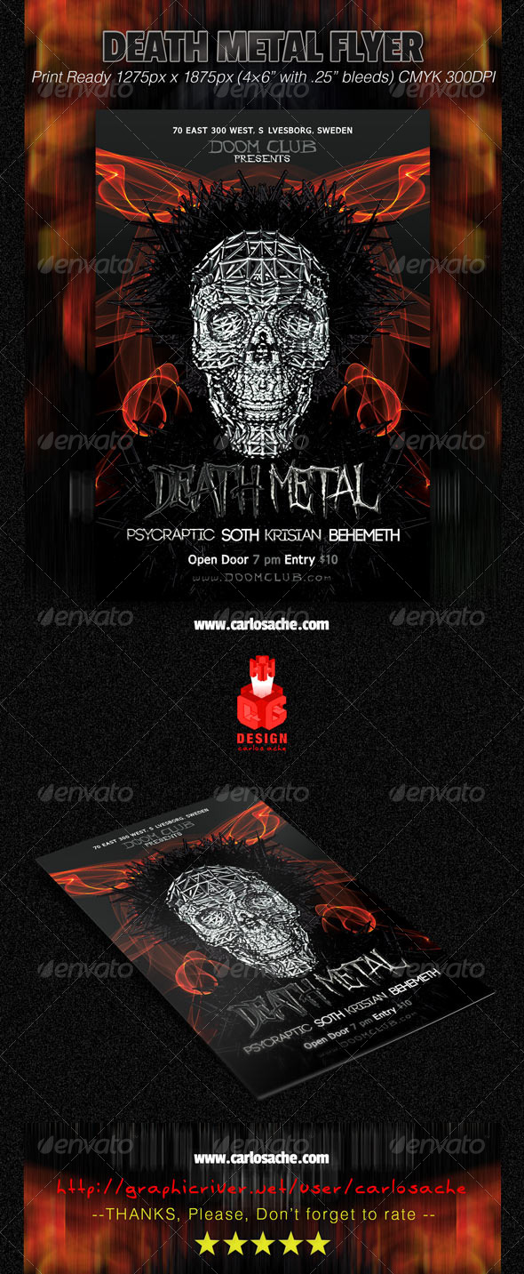 Death Metal Flyer - Clubs & Parties Events