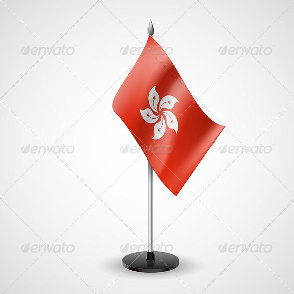 Table Flag of Hong Kong - Miscellaneous Vectors