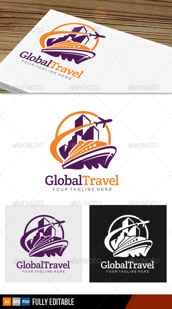 Global Travel Logo - Objects Logo Templates