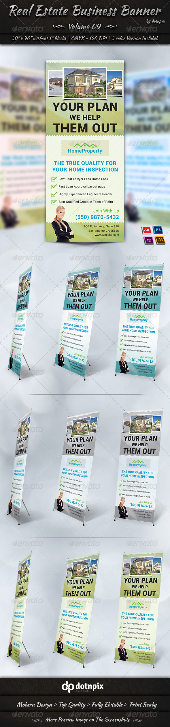 Real Estate Business Banner | Volume 9 - Signage Print Templates