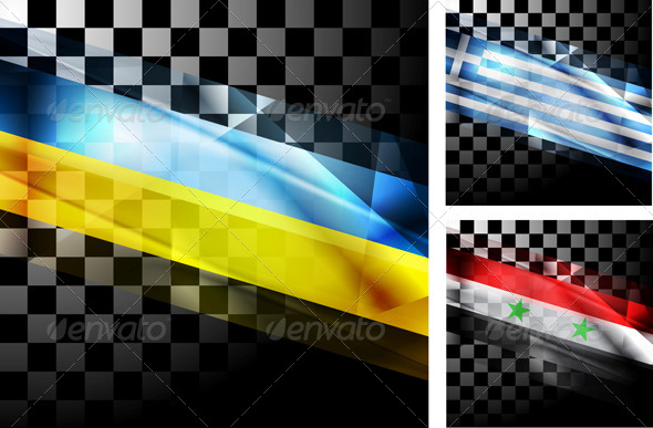 Concept Design of Flags - Abstract Conceptual