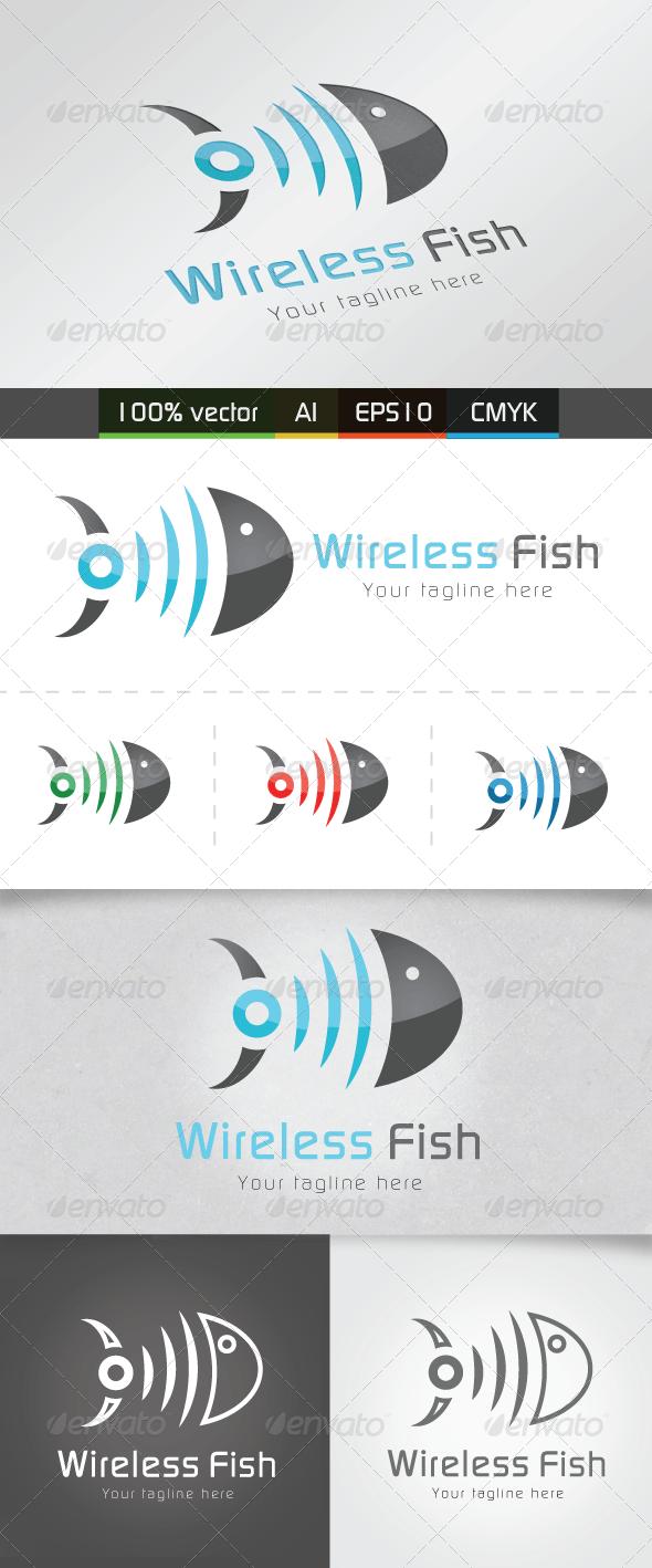 Wireless Fish - Abstract Logo Templates