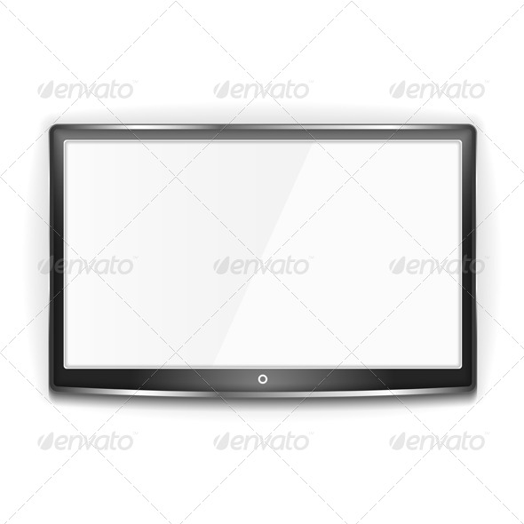 Black LCD TV Screen - Technology Conceptual