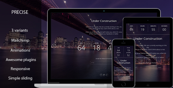 Precise – Responsive Coming Soon Template
