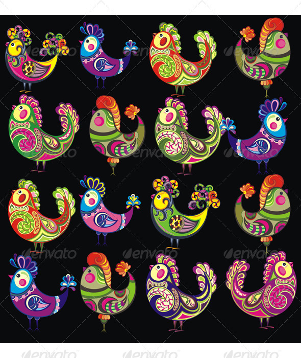 Easter Chickens - Animals Characters