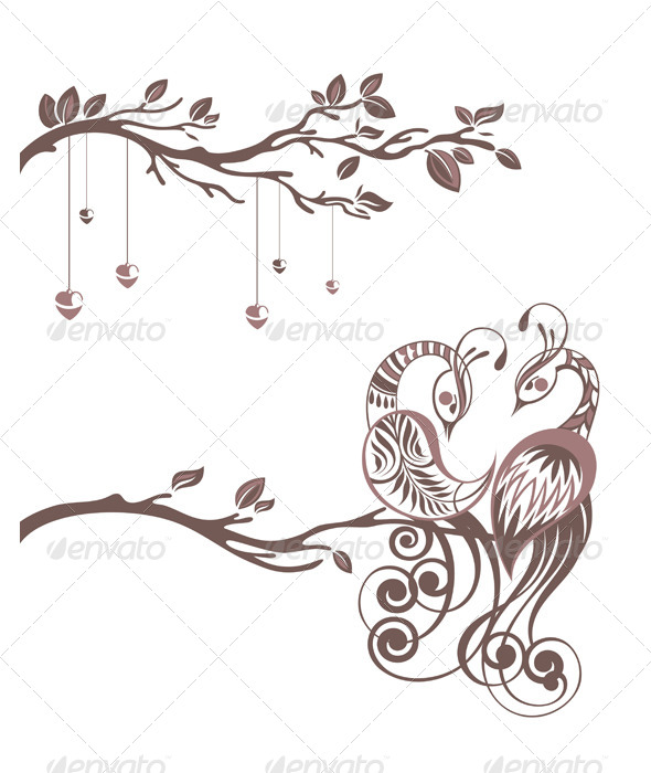 Illustration of Birds - Backgrounds Decorative