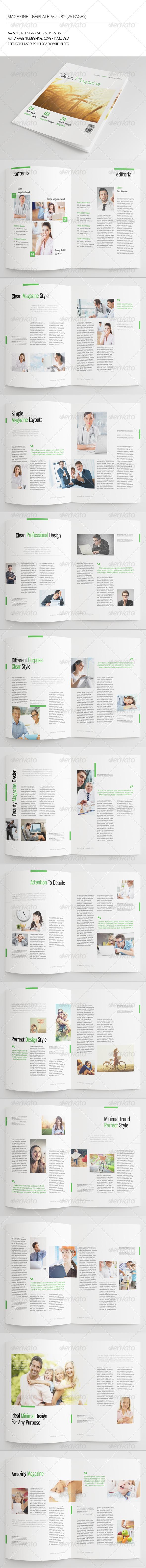 25 Pages Minimal Magazine Vol32 - Magazines Print Templates
