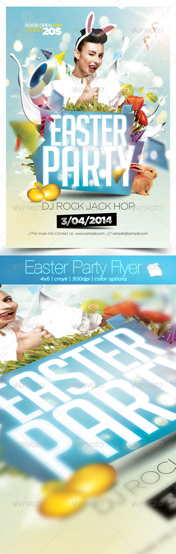 Easter Party Flyer 2014 - Flyers Print Templates