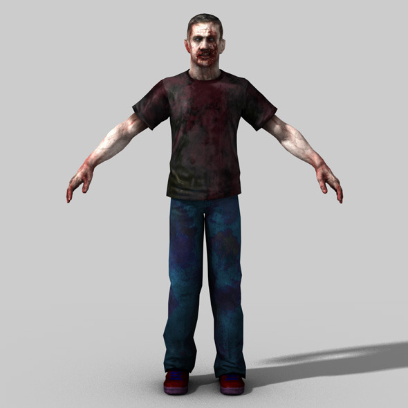 3D Model of Zombie - 3DOcean Item for Sale