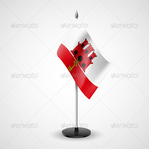 Table flag of Gibraltar - Miscellaneous Vectors