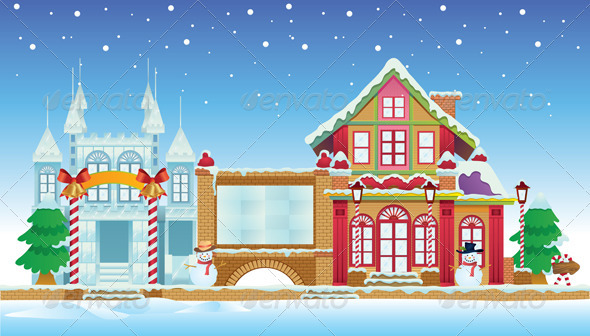 Santa Claus House and Ice Castle - Buildings Objects
