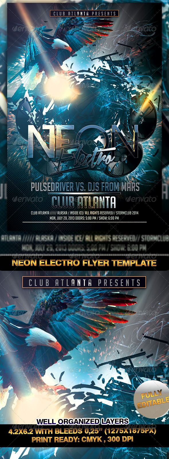 Neon Electro Flyer Template - Events Flyers