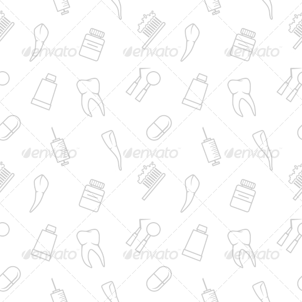 Seamless teeth pattern - Health/Medicine Conceptual