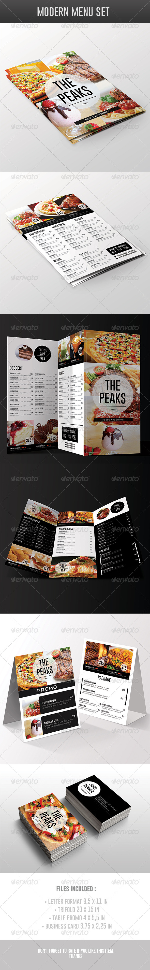 Modern Menu Pack - Food Menus Print Templates