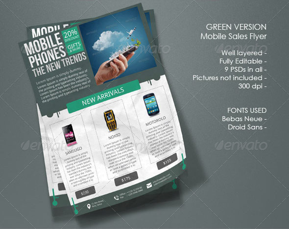 mobile phones sales flyers