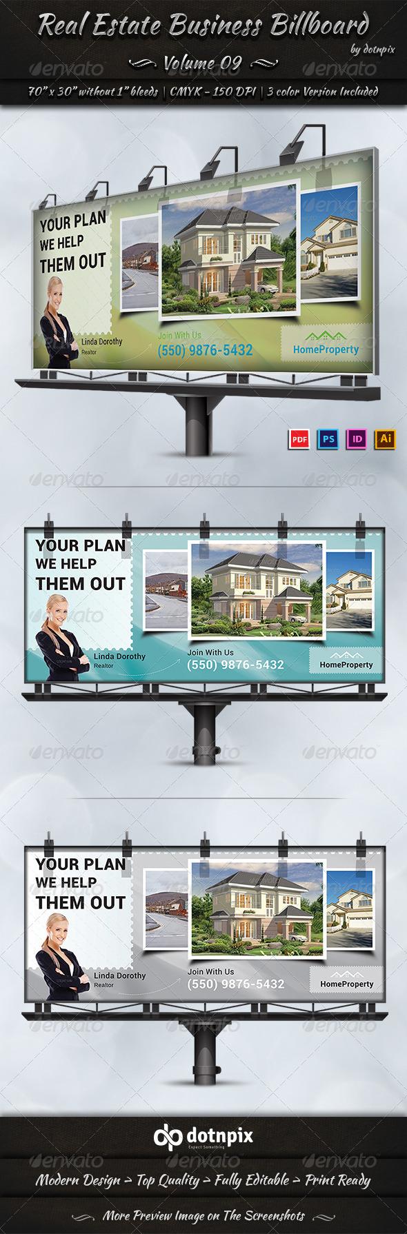 Real Estate Business Billboard   Volume 9 - Signage Print Templates