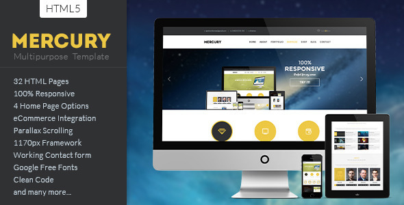 MERCURY – Multipurpose HTML5 Template