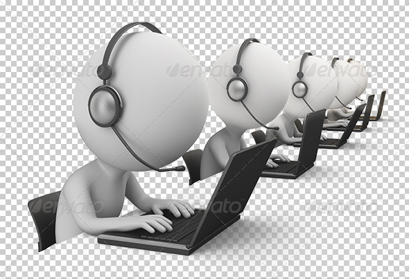 3d small people - call center - Characters 3D Renders