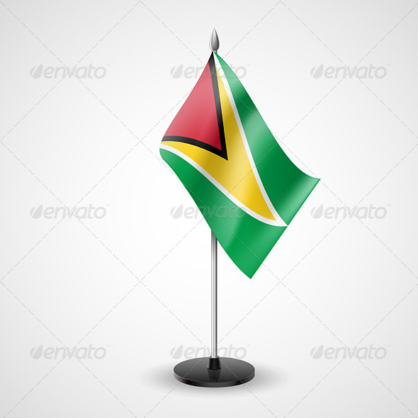 Table flag of Guyana - Miscellaneous Vectors